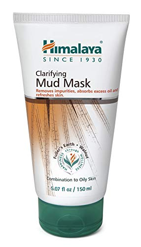 Himalaya Clarifying Mud Mask for Combination Skin and Oily Skin, Deep Cleansing Face Mask Absorbs Excess Oil, Clears Clogged Pores and Helps Remove Dead Skin Cells, 5.07 oz (150 ml)