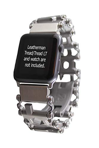 BestTechTool watch adapter compatible with LEATHERMAN TREAD/TREAD LT - BTT adapter - Stainless Steel (Apple watch 40mm/38mm, TREAD)