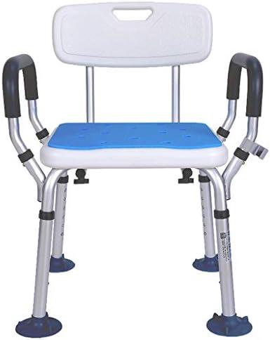 Bad Stuhl Duschhocker Behindertenbad Hocker, Leichter Tragbarer Duschstuhl Rutschfester Sicherheitshocker Aluminiumlegierung...