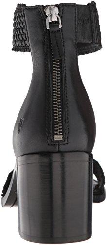 FRYE Women's Bianca Woven Back Zip Heeled Sandal, Black, 7.5 M US by FRYE (Image #2)