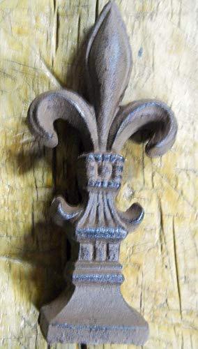 Huge Fleur DE LIS Finial Garden Statue Rustic Ranch Saints Vintage Cast Iron Supplies for Home Decor by CharmingSS