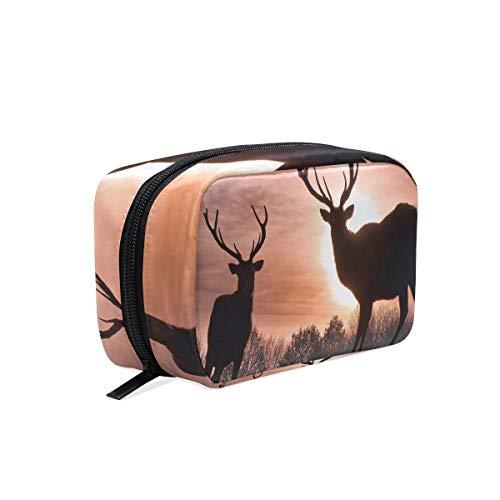It Avon Bag The (HU MOVR Cosmetic Bag Wild Deer Beautiful Girls Makeup Organizer Box Lazy Toiletry Case)