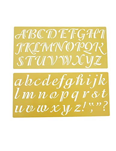 Caligraphy Stencil Letters 2 inch, Alphabet Stencils Upper and Lower Case]()
