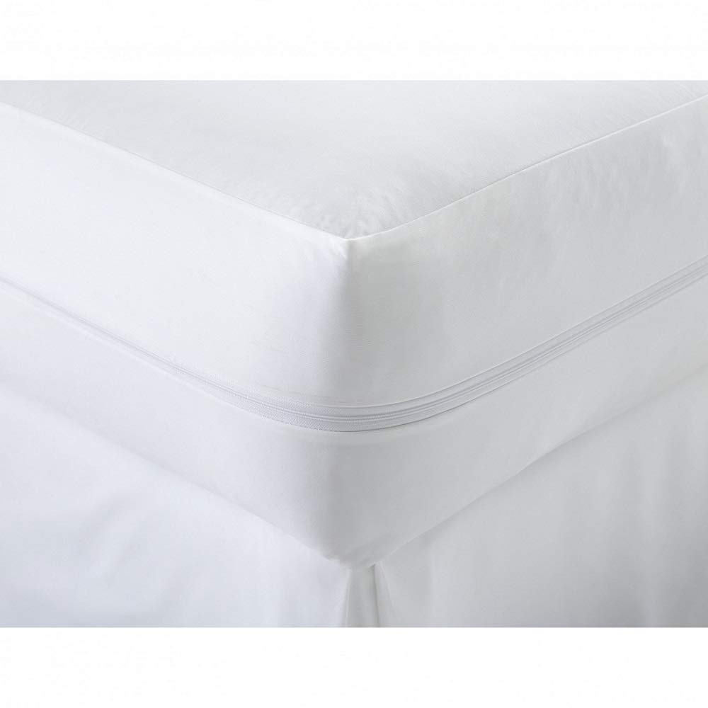 100/% Cotton Poly Blend Anti Allergy Zipped Mattress Protector Bugs Mites Treated