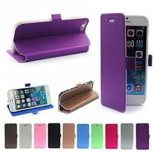 JOE Novelty Diamond Look Grid Pattern Design Protective Case PU Leather Back Cover for iPhone 6 (AssortedColor)