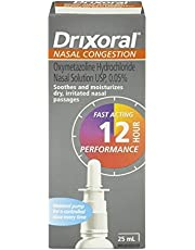 Drixoral Nasal Congestion Spray, Soothes and Moisturizes Dry and Irritated Nasal Passages, 25ml