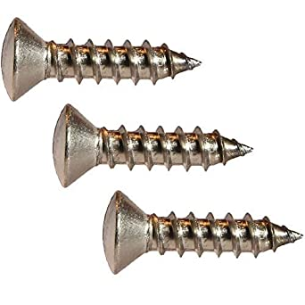 """#14 x 1-1//2/"""" Oval Head Wood Screws Slotted Stainless Steel Quantity 25"""