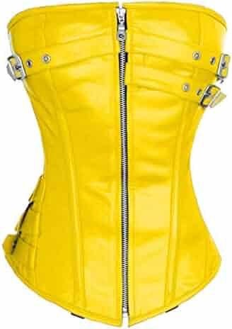 ecdd846f8a38 luvsecretlingerie Heavy Duty 24 Double Steel Boned Waist Training Leather  Overbust Tight Shaper Corset #9099