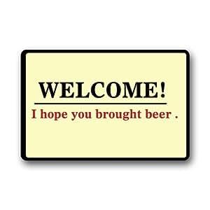 Alta calidad y nuevo bienvenidos Espero traído a la Moda cerveza Felpudo