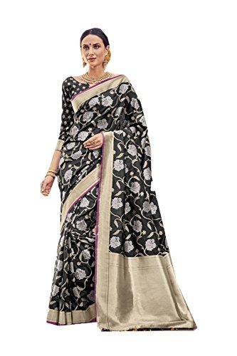 Da Facioun Indian Sarees For Women Wedding Designer Party Wear Traditional Sari. Da Facioun Saris Indiens Pour Les Femmes Portent Partie Concepteur De Mariage Sari Traditionnel. Black 10 Noir 10