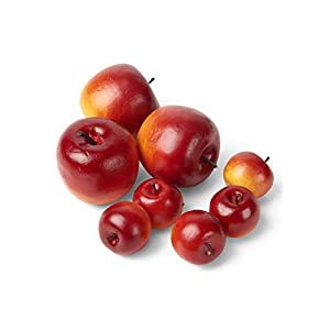 Serene Spaces Living Decorative Assorted Red Apples, Faux Fruits for Display, Set of 8 43