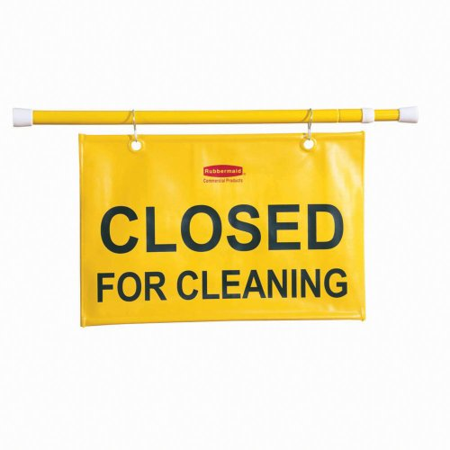 Hanging Safety Sign with ''Closed for Cleaning'' Logo [Set of 6] by Rubbermaid Commercial Products (Image #3)