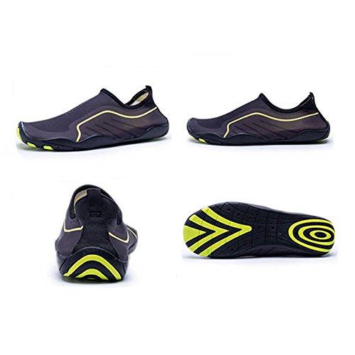Blankey Scarpe Da Sport Acquatici Quick-dry Scarpe Da Spiaggia A Piedi Nudi Flessibili Per Uomini Donne Bambini Black1