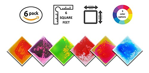 Liquid Floor Tile Six Pack - By Playlearn (Mixed Color) 30 x 30 by Playlearn USA