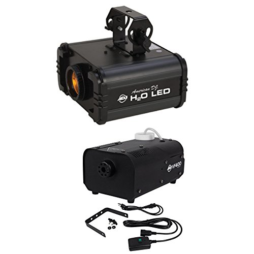 Package: American DJ H20 LED IR Multi Color DJ Light W/Water Flowing Effect and + American DJ VF400 Portable/Mini 400 Watt Fog Machine by American DJ