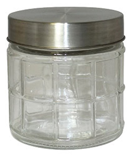Gourmet Home Products 27-Ounce Round Window Glass Storage Co
