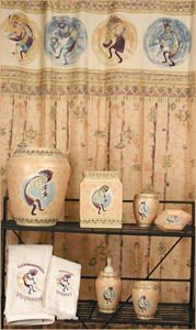 Vohann KOKOPELLI southwestern SHOWER CURTAIN home bath decor