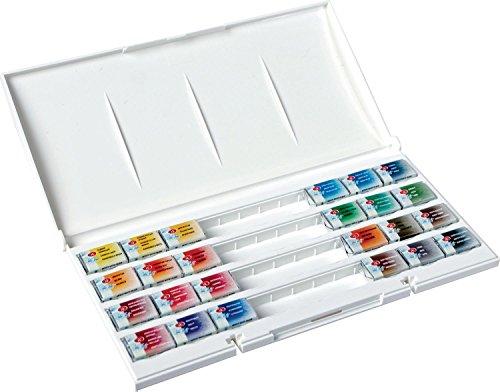 White Nights Watercolour Artists Watercolour Whole Pans, Plastic, Multi-colour, Set of -