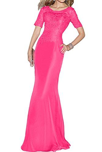 Toskana novia estilo completo Forma de Corazón Cristal Noche de gasa Vestidos Largo novia Party Ball Ropa Rosa