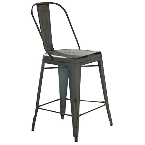 Liberty Furniture 179-B350524-G Vintage Dining Series Bow Back Counter Chair, Green -