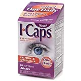 I-Caps Eye Vitamin & Mineral Supplement, Lutein & Omega-3, Softgels - 30 ea (PACK OF 2)