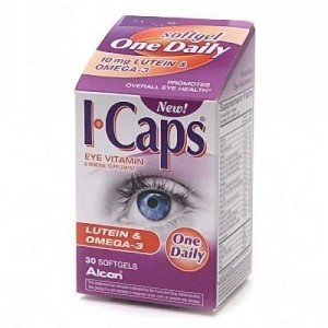 I-Caps Eye Vitamin & Mineral Supplement, Lutein & Omega-3, Softgels