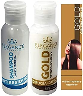 Cirugia Capilar Elegance Gold 60 Ml Smooth Shine Alisar Keratin (Fast Shipping)
