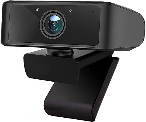 ZHENREN 1080P Webcam with Microphone, USB PC Computer Webcam HD Pro Webcam for PC Laptop Computer Desktop, Plug and Play Webcam with 360°Rotating Base for Video Calling/Online Study/Conference/Gaming