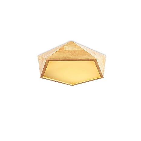 Amazon.com: CUICAN - Lámpara de techo de madera nórdica para ...