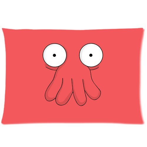 WarmHome Custom Futurama Doctor Zoidberg Home Decorative Soft Throw Pillowcase Cushion Custom Pillow Case Cover Protecter with Zipper Standard Size 20x30 Inches Two Sides Printed -