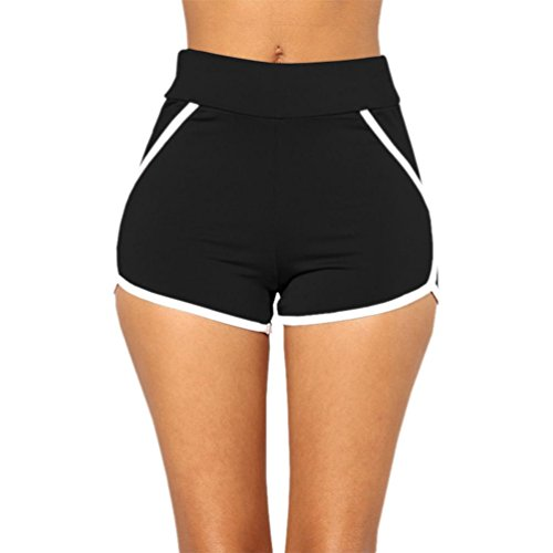 Donna Beach Cintura Palestra VICGREY Workout Nero Pantaloni Pantaloni Selvatici Pants Pantaloncini Hot Shorts Sexy Yoga Sport Estate Casual EwACWqxC7