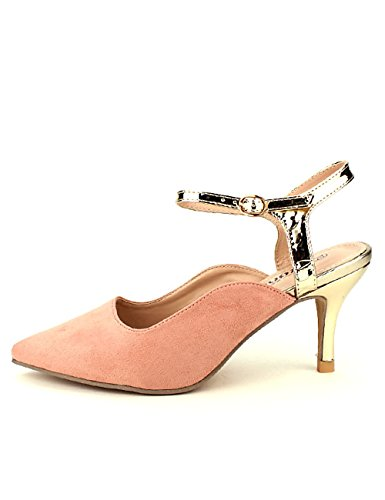 Royal Femme Rose Pointu Chaussures Velours Cendriyon Escarpin TWBSfwqB8