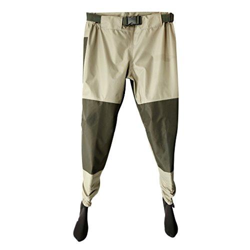 Jili Online Breathable Rafting Fishing Wader Elastic Waist Pants with Neoprene Socks Shoes - XL
