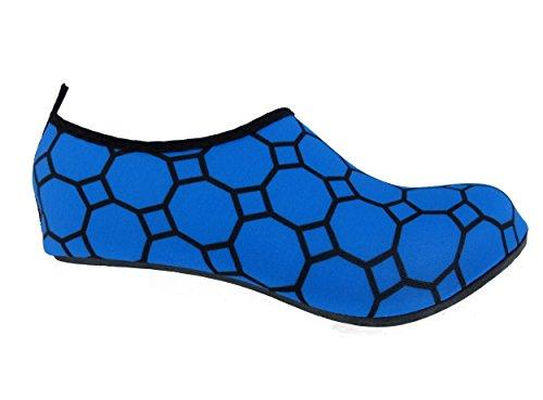 Bamboomn Ultra Leggero Dinamico Flessibile Acqua Attiva Sport Aqua Running Scarpe Da Spiaggia Modello Blu
