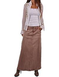 Blond Chic Long Denim Skirt
