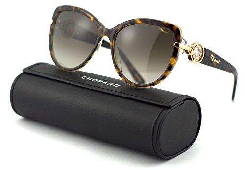 Chopard SCH 205S Women Round Sunglasses (Brown Havana Frame/Brown Gradient Lenses 0781) ()