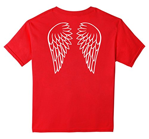 unisex-child Angel wings T-Shirt 4 Red - Red Wings Girls Shirt
