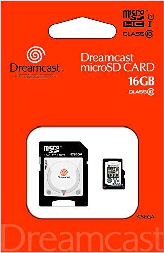 SEGA Hardware Series SEGA Dreamcast Micro SD Card + Adapter Set SDHC Card 16GB [Japan Imported]