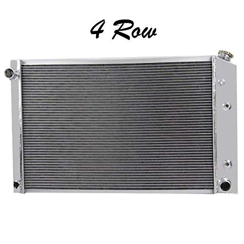 88 Chevrolet Blazer Radiator - ALLOYWORKS 4 Row Aluminum Radiator For Chevy Pickup Trucks 1973-1991