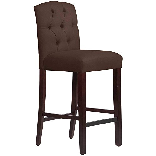 Price comparison product image Skyline Furniture Custom Tufted Bar Stool in Twill Blue