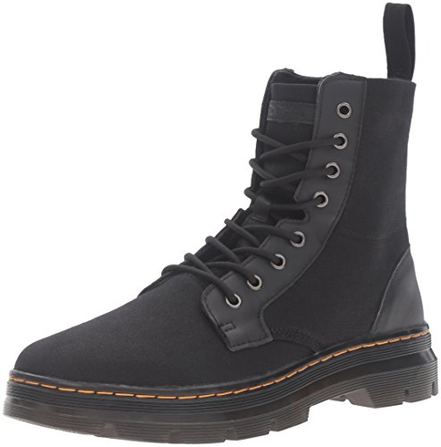 Dr.Martens Combs Waxy Canvas Black Womens Boots negro