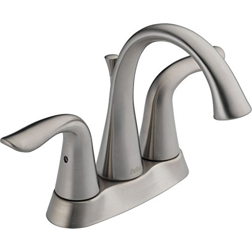Delta Lahara Two Handle (Delta 2538LF-SS Lahara Two Handle Centerset Bathroom Faucet, Stainless)
