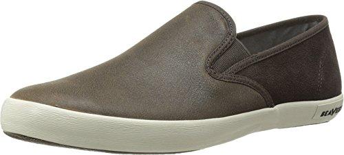 SeaVees Men's 02/64 Baja Slip-On Wintertide Fashion Sneaker,Chocolate Bomber Leather/Suede,12 M US