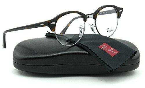 Ray-Ban RX4246V ClubRound Unisex Eyeglasses (Dark Havana Frame 2012, 49)