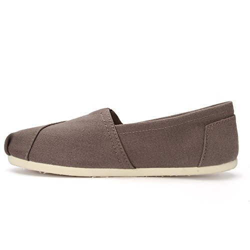 Ram Tom Classic Casual Canvas women's shoes lazy slip on men's shoes (US5.5=EU36=22.5CM, gray)