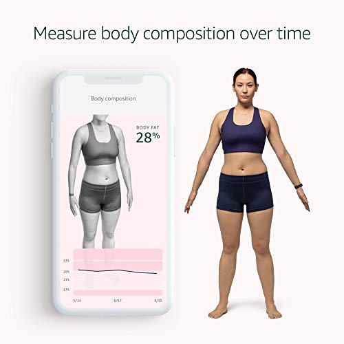 Introducing Amazon Halo – Measure body composition, activity, sleep, and tone of voice - Black + Onyx - Small