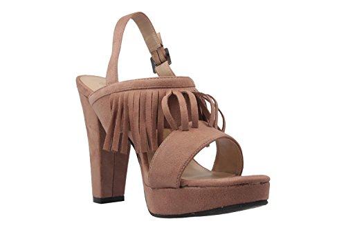 Andres Machado Damen Sandaletten - Nude Schuhe in Übergrößen