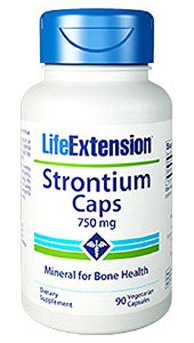 Life Extension Strontium, 750 mg,  90 Vegetarian Capsules,