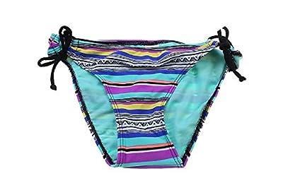 Hula Honey Striped Side-Tie Hipster Bikini Bottom Women's Swimsuit Multi Small