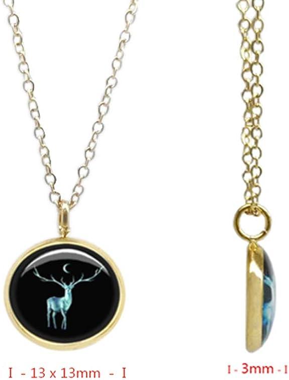 4 modelli CraftDe - Collana con ciondolo 40 5 cm di estensione con tema in confezione regalo